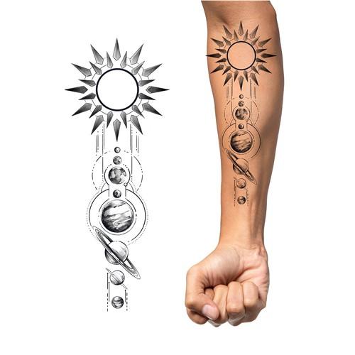 Solar System Tattoo