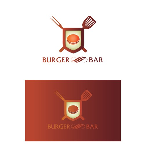 Create the next logo for BURGER BAR or THE BURGER BAR
