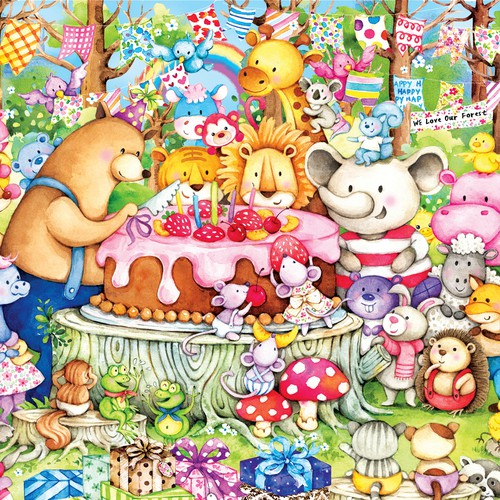 animals cartoon illustration