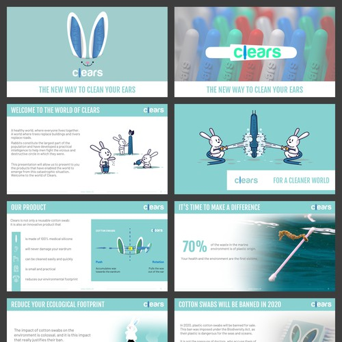 A Branded Presentation & Template for a playful environment friendly Brand that aims to replace cotton swabs