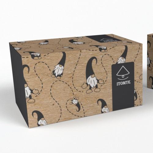 Box for Handmade Adorable Plush Gnome