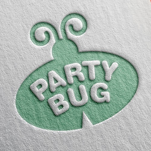 Party Bug Logo Design For Kids.  Come Party With Us!