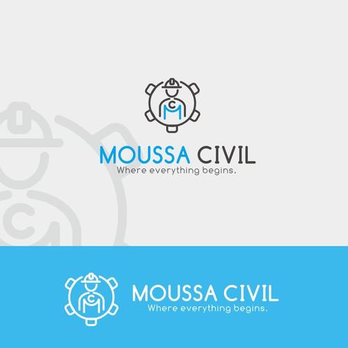 Simple logo concept for Moussa Civil