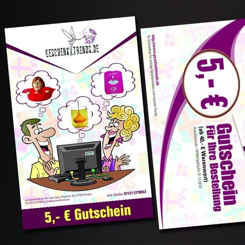 postcard or flyer für Geschenktrends