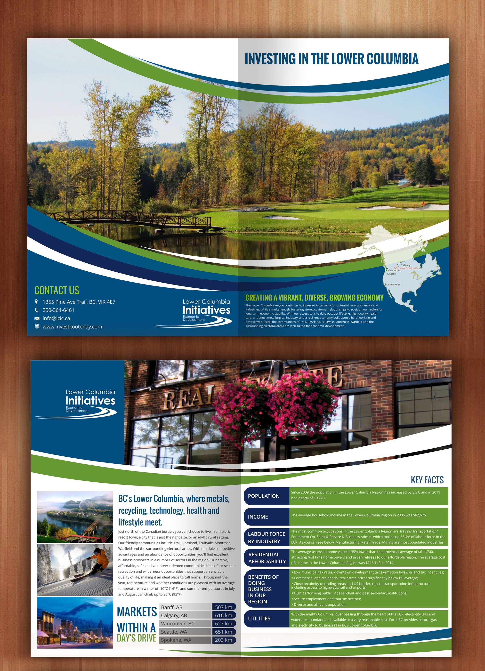 Investment brochure for beautiful Lower Columbia BC