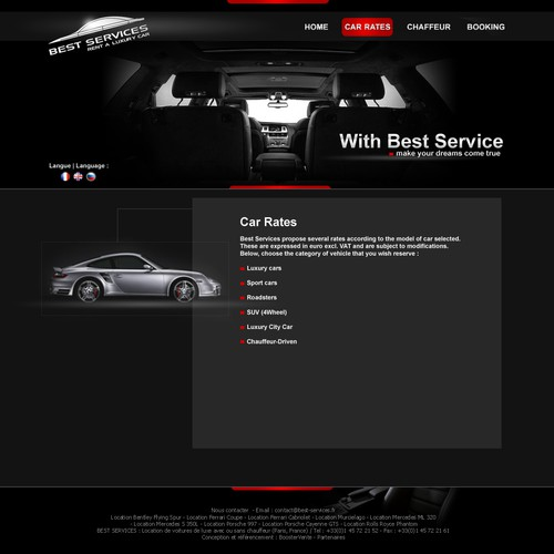 Luxury Car rental site on Wordpress