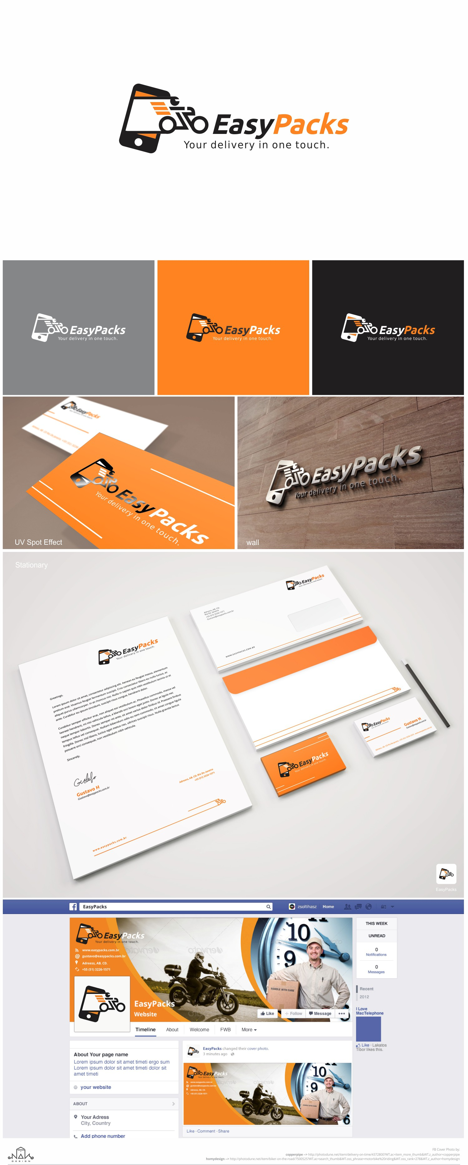 Create a visual identity for an app call motorcycle courier (motoboy)