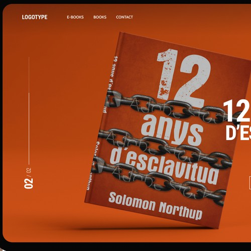 landing page design concept for a small book publishing company