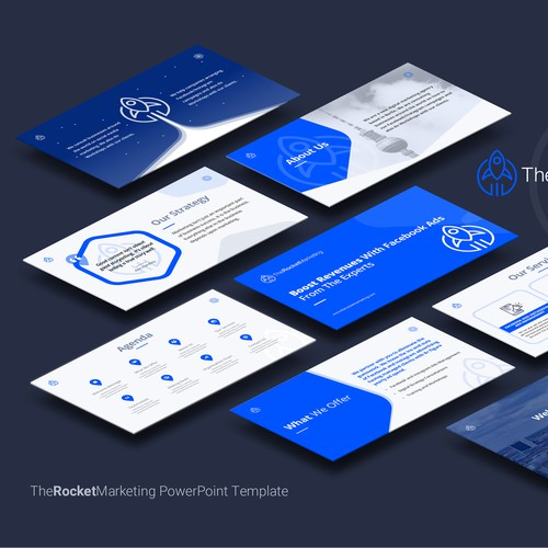 A Presentation Template for a Digital Marketing Agency