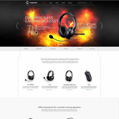 Gaming peripherals website design
