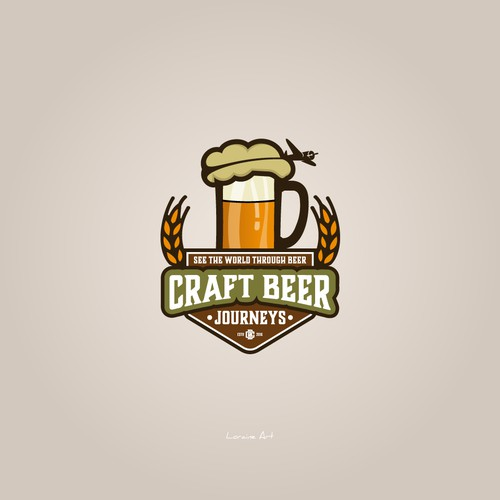 A unique logo of Craft Beer Journeys