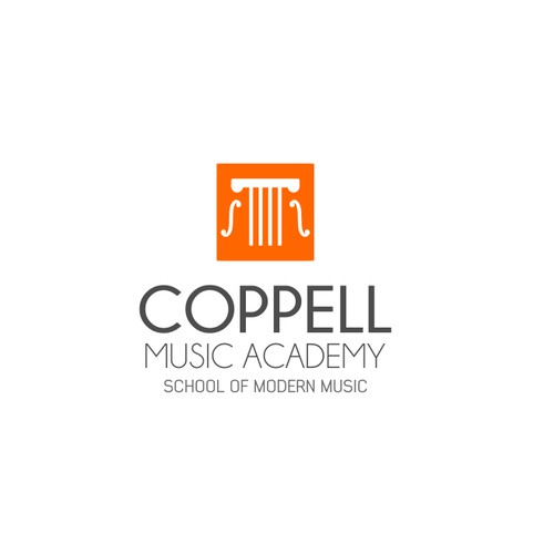 Logo for a music school