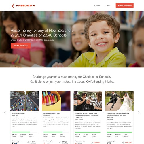 Website for Fundraising