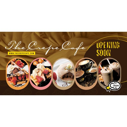 Create a billboard for The Crepe Cafe!