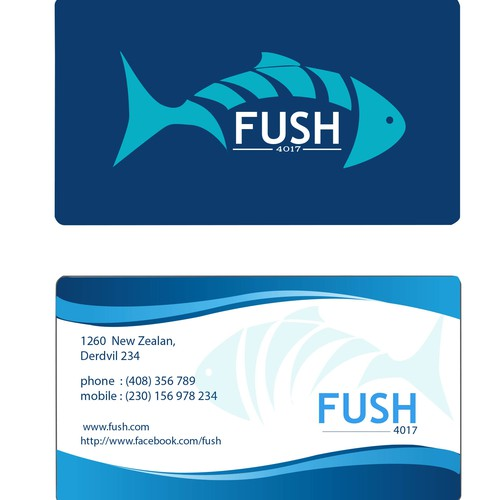Create a winning logo design for FUSH 4017 - the fresh fish shop!