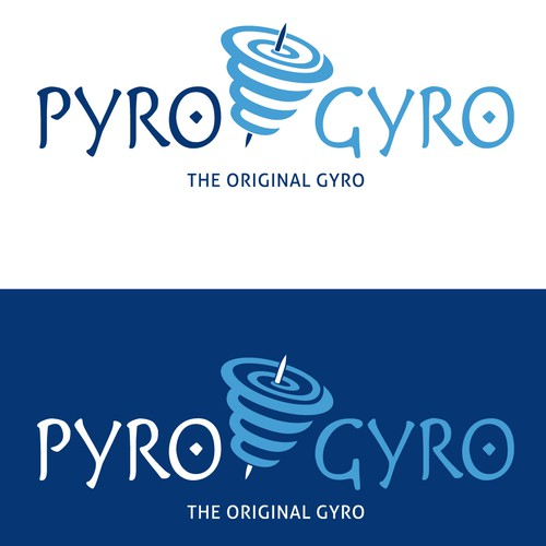 Create a winning logo design for the Pyro Gyro franchise