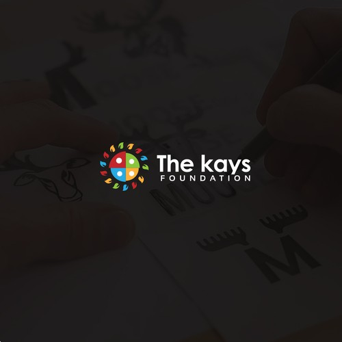 Logo design concept for The Kays Foundation.