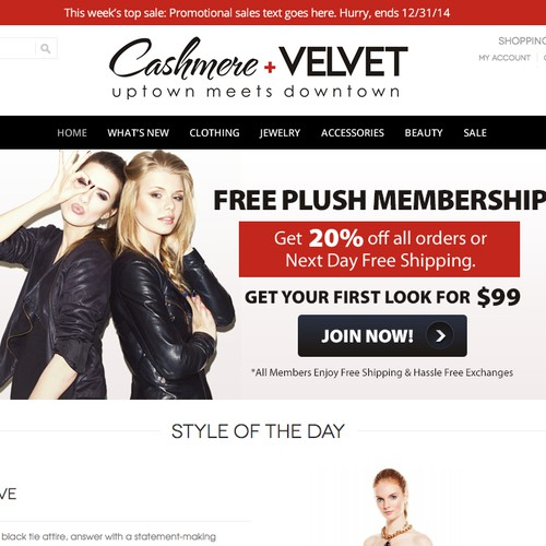 Main Homepage Banners for Online Fashion Website for Women