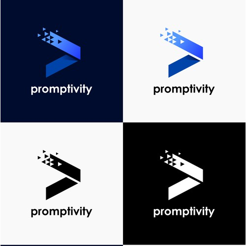 Modern Software Logo for Promptivity
