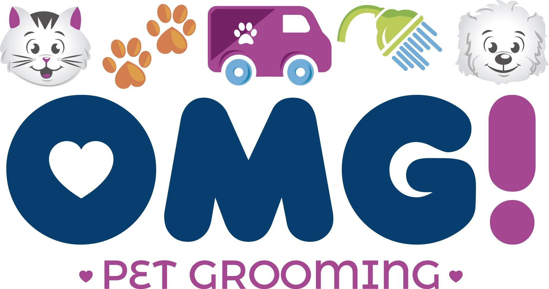 Mobile Dog Grooming Van Needs an Emoji Style Logo