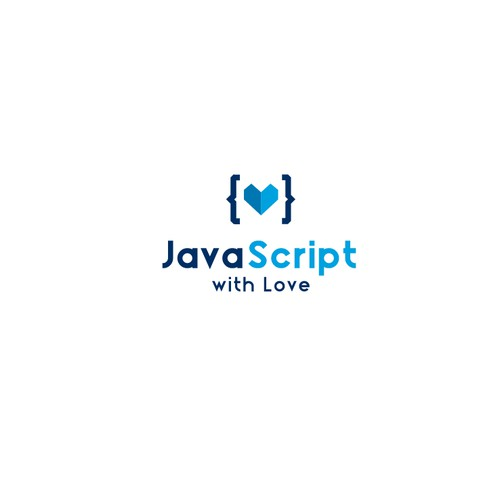 """Create a capturing logo for a """"JavaScript with Love"""""""