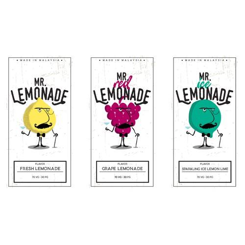 Custom label for lemonade product range