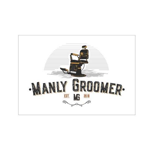 Logo for grooming salon for men