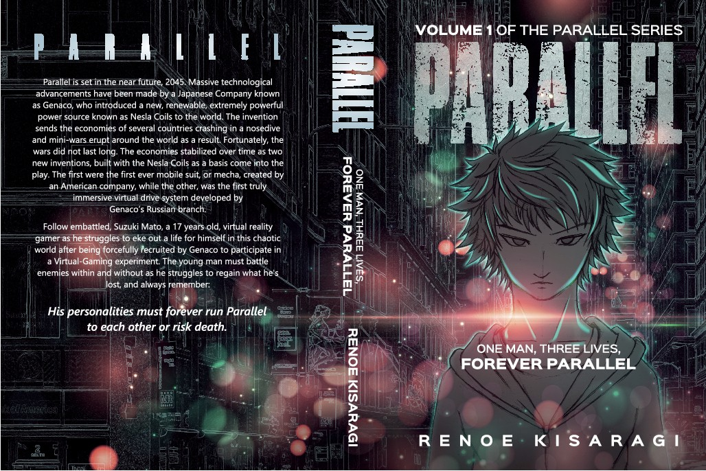 Create a bombastic cover for Parallel, A science fiction novel