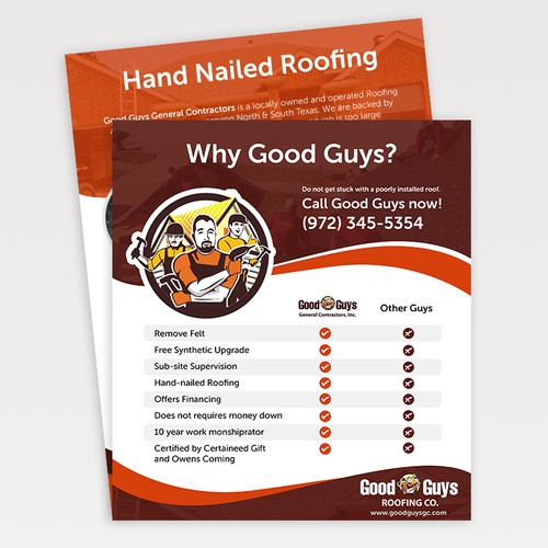 Staggered Flyer - Roofing Contractor