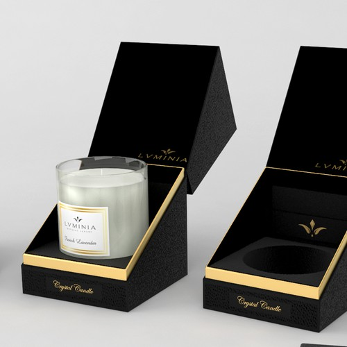 Clean Elegant Luxury Candle Box
