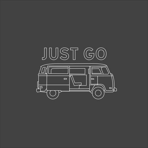 Line Art Camper Van