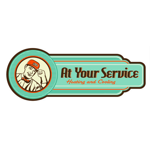 create a winning logo for a HVAC (heating & Air company) Vintage/retro!
