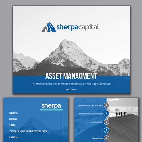 A Natural look for an Asset Mgmt Company Presentation