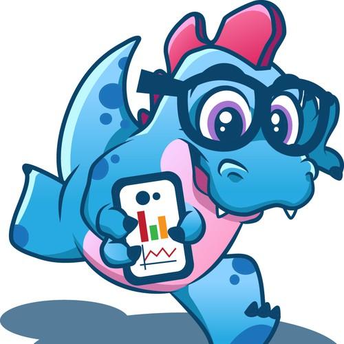 Genius Dinosaur Mascot