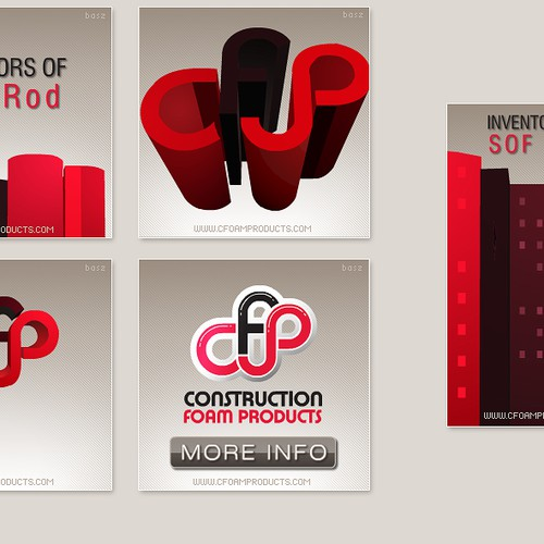 Foam products animated banner
