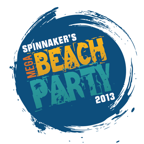 Create the next logo for Spinnaker's Mega Beach Party