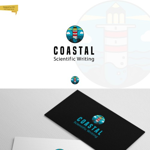 Logo & business card for writing and documentation review services
