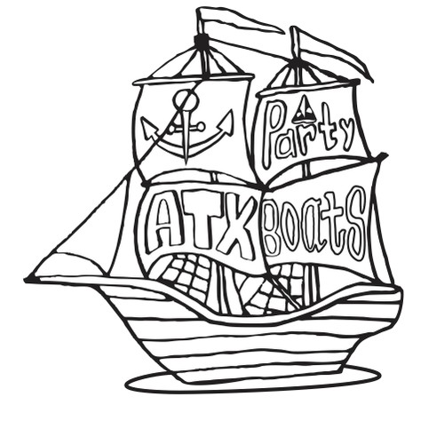 Hand drawn logo for a rent-a-boat company