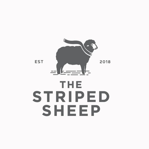 vintage logo for The Striped Sheep