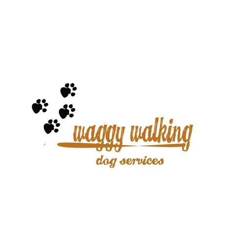 Create a fun modern logo for a local dog walking business