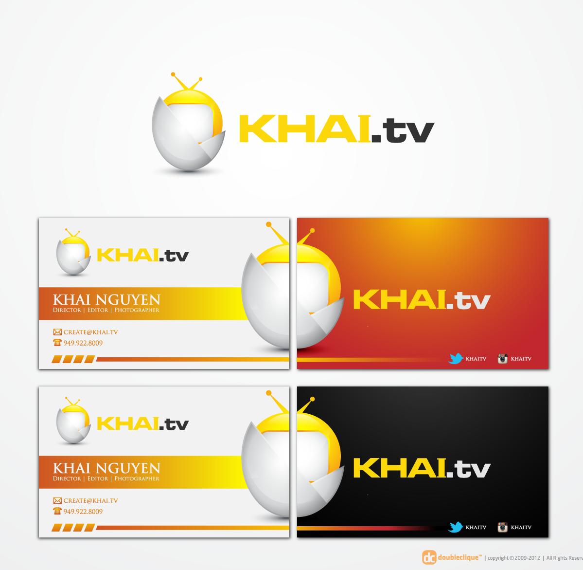 **CREATE an AWESOME logo/business card for KHAI.tv!
