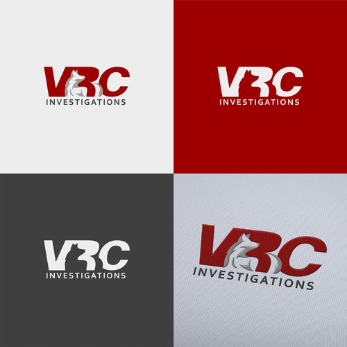 Bold wolf logo for VRC investigations