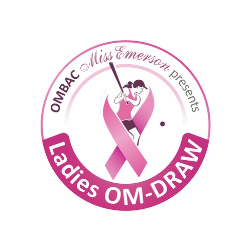 logo for OMBAC Miss Emerson presents Ladies OM-DRAW