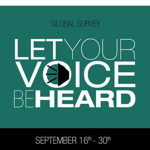 Create a poster/flyer for our global employee engagement survey