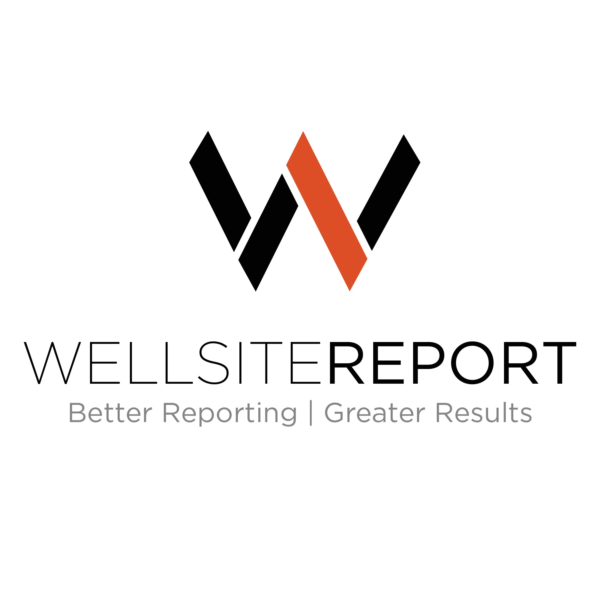 Create an oil & gas tech logo for Wellsite Report, an industry-changing company