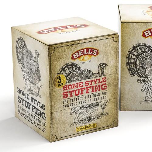 Vintage Grunge packaging for Stuffing