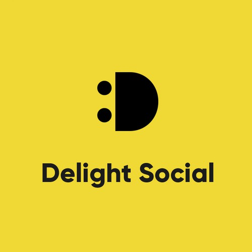 Bold identity for Delight Social