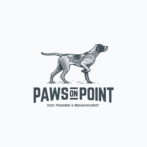 Vintage logo for a dog trainer.