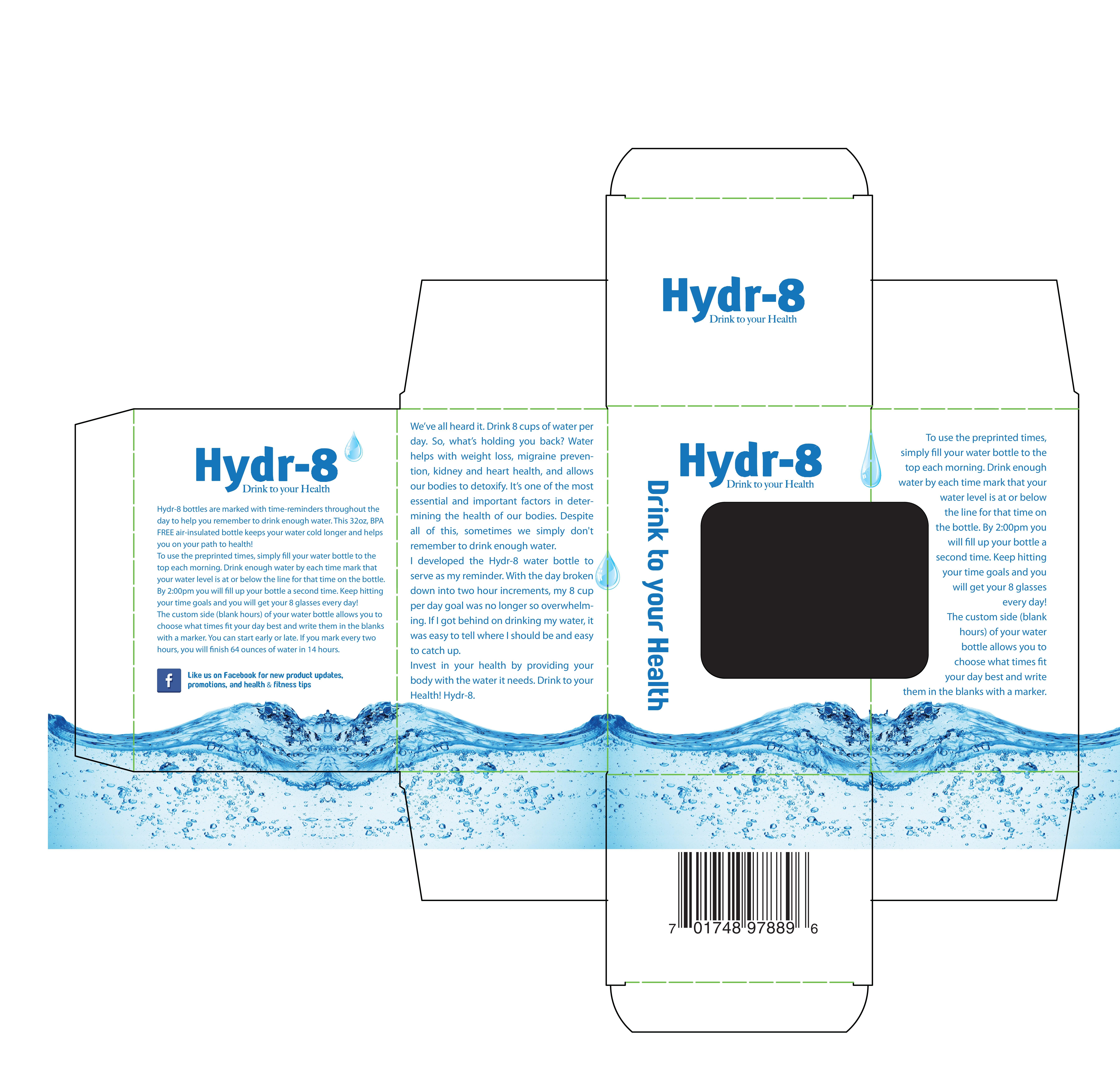 Hydr-8 Water Bottles Retail Box