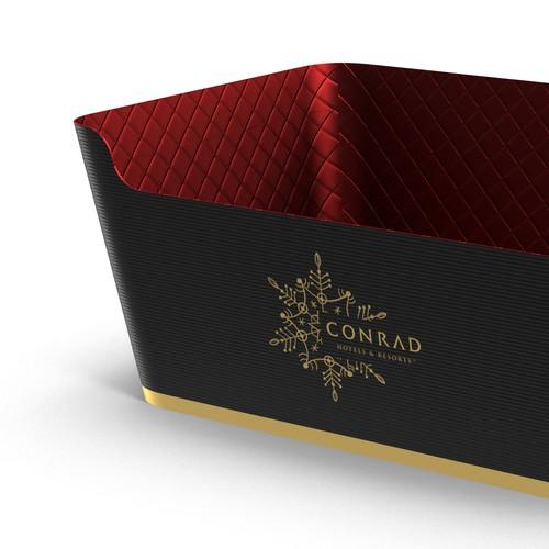 Christmas Hamper Box design